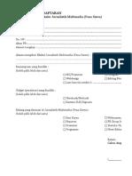 Form Pendaftaran Eskul
