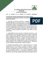 Pronunciamiento Partido Político Tierra y Libertad 29 Setiembre 2016 Sobre el Frente Amplio