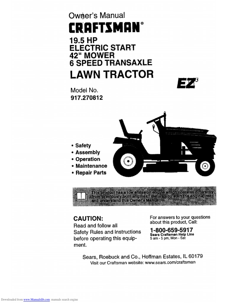 Craftsman lawn mower manual pdf download alpha beta demo fandeluxe Image collections