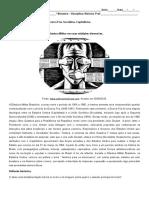 Atividade Sobre a Ditadura Militar.