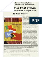 THE UN IN EAST TIMOR - Building Timor Leste, a fragile state