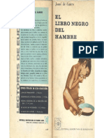 Castro, Josué de - El Libro Negro Del Hambre, Ed. Eudeba, 1964