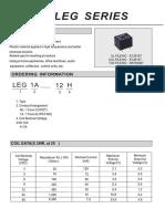 Rayex LEG1A 12 Datasheet RELAY