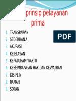 Prinsip-prinsip Pelayanan Prima
