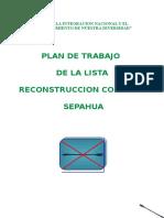 Plan de Trabajo Comunal