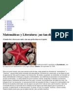 Matemáticas y Literatura