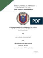 Tamizaje Fitoquimico y Actividad Biologica de Fouqueria Splendens (Engelmann), Ariocarpus Retusus (Scheidweiler) y Ariocarpus Kotschoubeyanus (Lemaire)