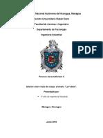 Informe de Practicas en Manufactura