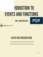 Introduction to Events and Functions