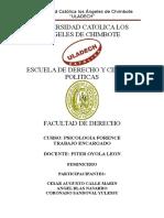 Trabajo Monografico DepsicologiaPSICOLOGIA FORENSE