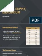 Supply, Demand, Equilibrium