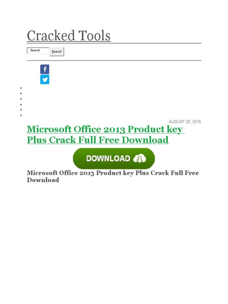 crack office 2013 product key