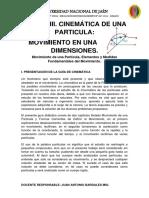Fisica General Movimiento en Una Dimensión