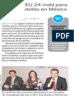 30-09-16 Invertirá EU 24 mdd para prevenir delito en México