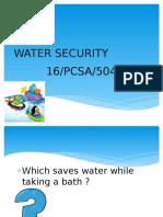 Water Security Sap