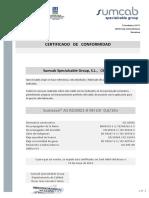 Certificado de Conformidad  Sumsave® AS RZ1MZ1-K  RH UV 0,6-1Kv