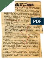 1965 chruch fire