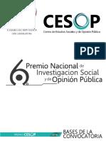 Convocatoria Premio CESOP 2016