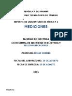 Informe de Física 1 - Mediciones