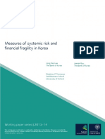 Measures of systemic risk and financial fragility in Korea.pdf