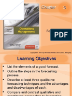 Operations Management chapter 3 - Forecasting