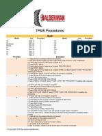 Tpms Procedures