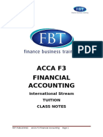 FBT Class Notes ACCA F3