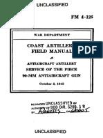FM 4-126 Service of the Piece 90-Mm Antiaircraft Gun_1942