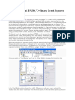 Using Spss and Pasw