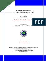 01-Yamta Makalah Ranah Kognitif Dalam Pembelajaran PDF