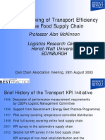 Benchmarking of Transport Efficiency