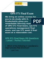 OPS 571 Final Exam with Quiz Through UOP at Studentwhiz