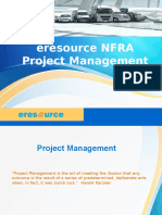Eresource NFRA Project Management