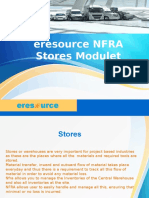 Eresource NFRA Stores Modulet
