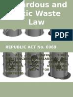 Hazardous and Toxic Waste Law