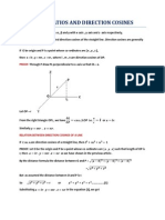 Direction Ratios and Direction Cosines