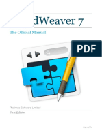 Rapidweaver Manual v7