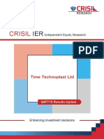 Time Technoplast Ltd Q4FY15 Update