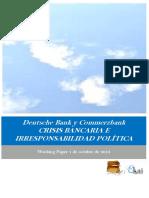 Deutsche Bank y Commerzbank. CRISIS BANCARIA E IRRESPONSABILIDAD POLÍTICA