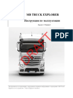 MB Truck Explorer Manual
