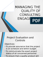 Managing the Quality of Consulting Engagement
