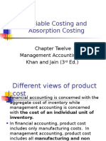 Absorption and Variable Costing - Ch. 2 PGDM New Final
