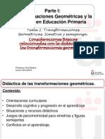 Didáctica de las transformaciones geométricas