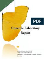 Concrete Lab Report