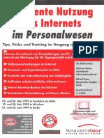 Effiziente Nutzung des Internet für das Personalwesen - Seminar