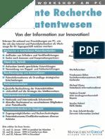 Workshop Effiziente Recherche im Patentwesen