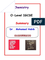 O Level Chemistry Summary