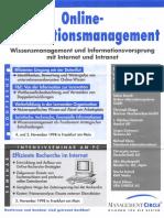 Konferenz Online-Informationsmanagement