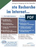 Effiziente Recherche im Internet für PR und Werbung