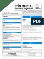 Boletín Oficial de la República Argentina, Número 33.473. 30 de septiembre de 2016